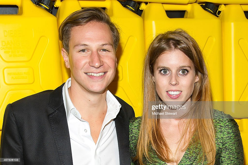 David Clark (L) and HRH Princess Beatrice attend the 8th annual charity: ball Gala at the Duggal Greenhouse on December 16, 2013 in the Brooklyn borough of New York City.