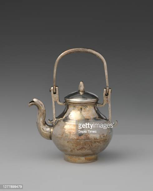 David Clayton Miniature kettle with cover British London David Clayton late 17th–early 18th century British London Silver 2 5/8 × 2 1/16 in...