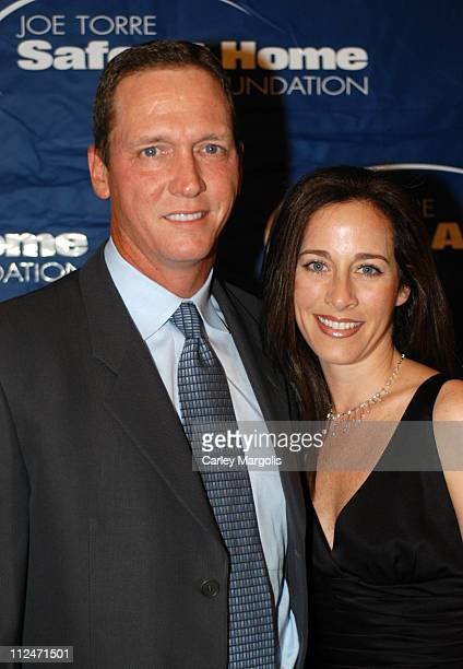 David Cone and wife Lynn Cone during Joe Torre Safe at Home Foundation's Second Annual Gala at Pierre Hotel in New York City New York United States