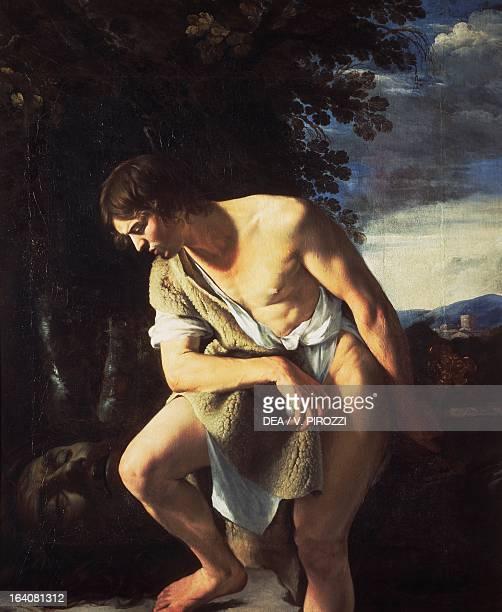 David contemplating the head of Goliath by Orazio Gentileschi oil on canvas 173x142 cm Rome Galleria Spada