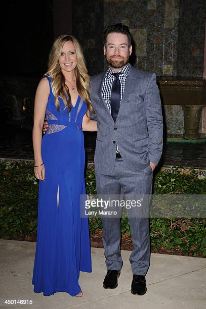David Cook and Rachael Stump arrive at the 2013 Chris Evert ProCelebrity Tennis Classic Gala at Boca Raton Resort on November 16 2013 in Boca Raton...