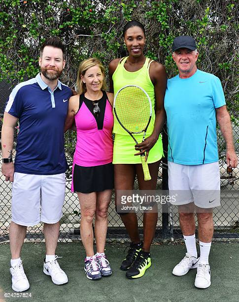 David Cook Chris Evert Lisa Leslie and Alan Thicke participate in 2016 Chris Evert/Raymond James ProCelebrity Tennis Classic at Boca Raton Resort on...