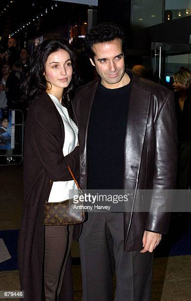 David Copperfield and a friend arrive for the world premiere of Harry Potter and the Philosopher's Stone November 4 2001 in London