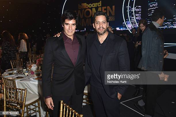 David Copperfield and David Blaine attend the Billboard Women in Music 2016 event on December 9 2016 in New York City