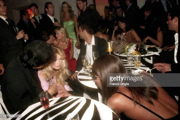 David Copperfield and top models Claudia Schiffer and Naomi Campbell attend a party for the inauguration of three new Valentino's boutiques on...