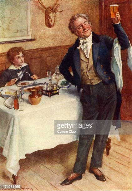 'David Copperfield' by Charles Dickens Caption reads David Copperfield and the waiter Originally published in 1850 CD English novelist 7 February...