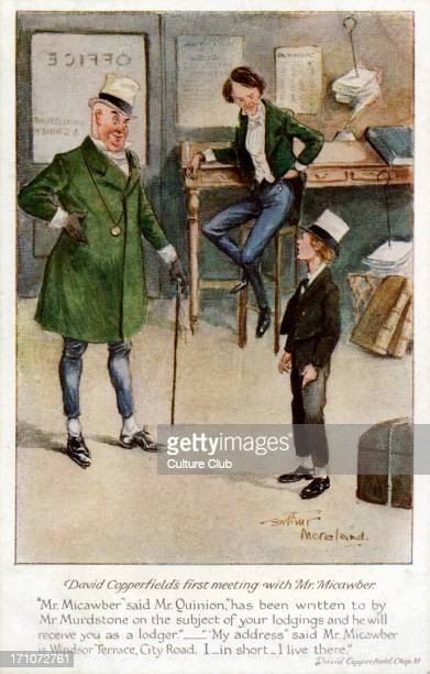 'David Copperfield' 'David Copperfield' by Charles Dickens's David Copperfield's first meeting with Mr Micawber Chapter 11 Caption reads 'Mr...