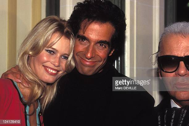 David Copperfield In Paris France On September 29 1994 Claudia Schiffer and David Copperfield