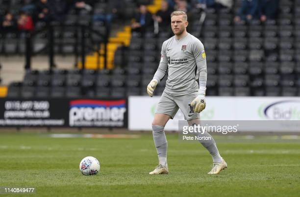 David Cornell of Northampton Town in action during the Sky Bet League Two match between Notts County and Northampton Town at Meadow Lane on April 06...