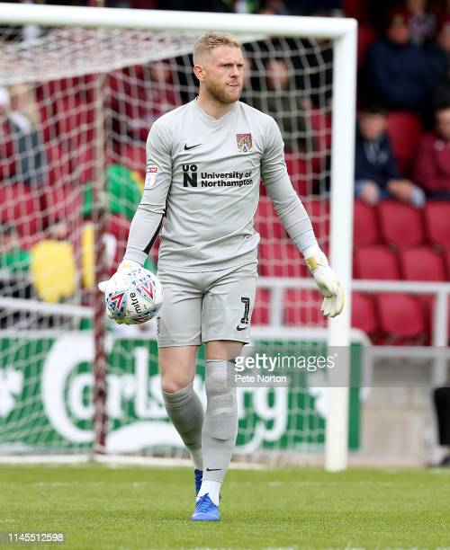 David Cornell of Northampton Town in action during the Sky Bet League Two match between Northampton Town and Yeovil Town at PTS Academy Stadium on...