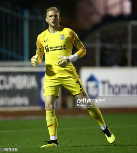 David Cornell of Northampton Town in action during the Sky Bet League Two match between Carlisle United and Northampton Town at Brunton Park on...