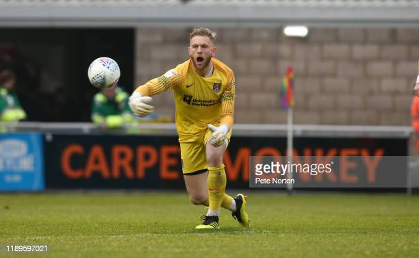 David Cornell of Northampton Town in action during the Sky Bet League Two match between Northampton Town and Grimsby Town at PTS Academy Stadium on...