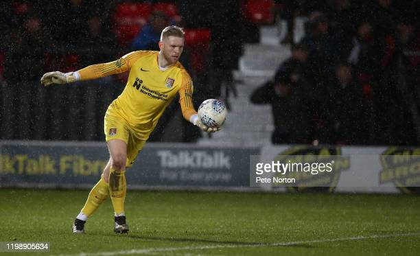 David Cornell of Northampton Town in action during the Sky Bet League Two match between Salford City and Northampton Town at The Peninsula Stadium on...