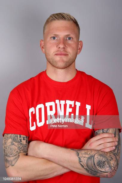 David Cornell of Northampton Town poses during a photo shoot on September 27 2018 in Northampton England