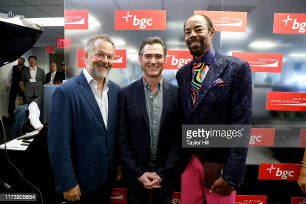 """David Costabile, Billy Crudup, and Walt """"Clyde"""" Frazier attend Annual Charity Day Hosted By Cantor Fitzgerald, BGC and GFI - BGC Office – Inside on..."""