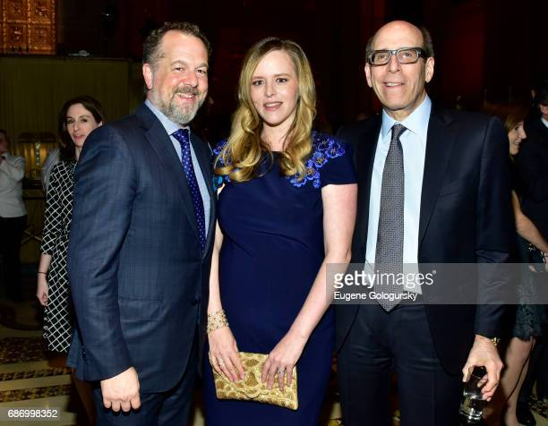 David Costabile Eliza Baldi and Matthew C Blank attend Matthew C Blank Honoring at Manhattan Theatre Club Spring Gala 2017 at Cipriani 42nd Street on...