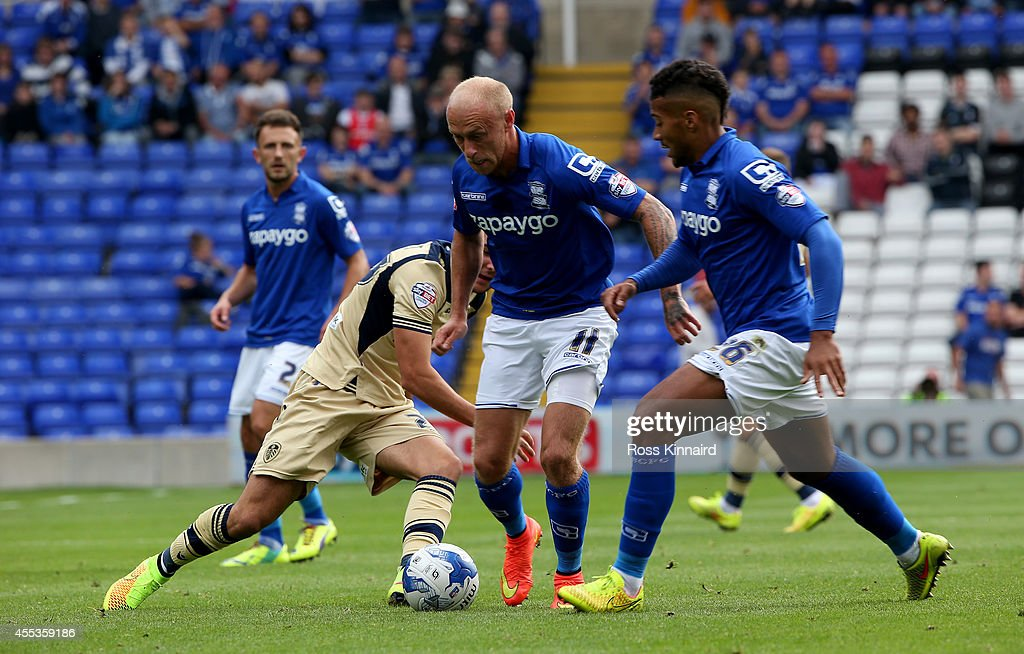 David Cotterill of Birmingham in action during the Sky Bet Championship match between Birmingham City and Leeds United at St Andrews (stadium) on September 13, 2014 in Birmingham, England.
