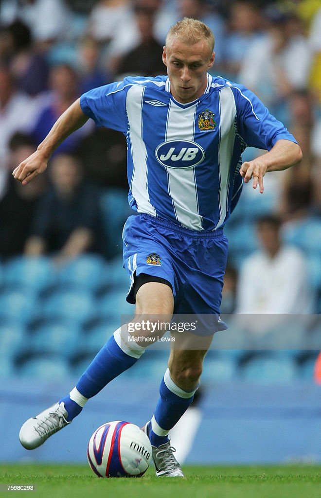 David Cotterill of Wigan Athletic in action during the Pre-Season Friendly match between Leeds United and Wigan Athletic at Elland Road, on August 04, 2007 in Leeds, England.