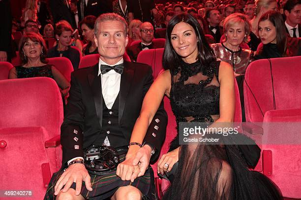David Coulthard and his wife Karen Minier arrive at the Bambi Awards 2014 on November 13 2014 in Berlin Germany