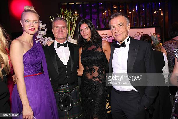 David Coulthard and his wife Karen Minier Wolfgang Schattling during the Bambi Awards 2013 after show party on November 13 2014 in Berlin Germany