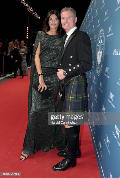 David Coulthard and Karen Minier attend the IWC Schaffhausen Gala celebrating the launch of the new Pilot's Watches and the dream of flying at the...