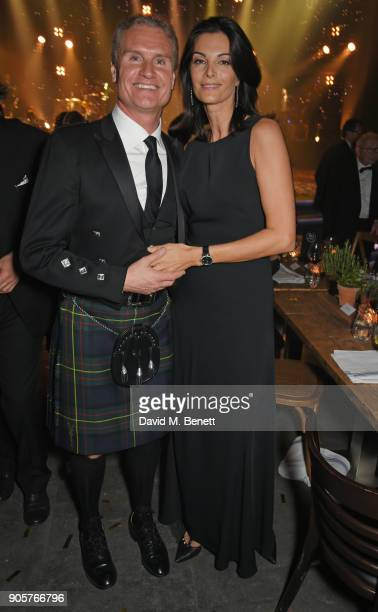 David Coulthard and Karen Minier attend the IWC Schaffhausen Gala celebrating the Maison's 150th anniversary and the launch of its Jubilee Collection...
