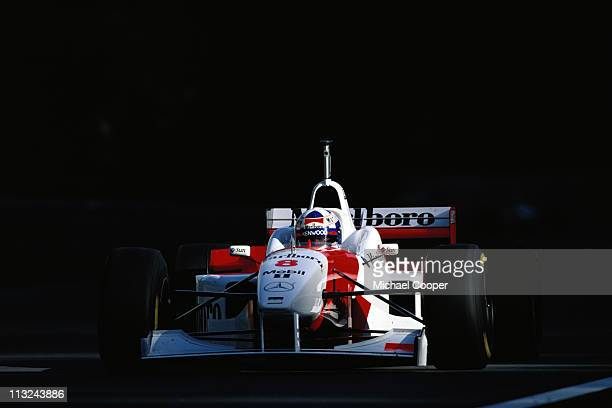 David Coulthard drives the Marlboro McLaren Mercedes McLaren MP4-11 Mercedes 3.0 V10 during the Belgian Grand Prix on 25th August 1996 at the Circuit...