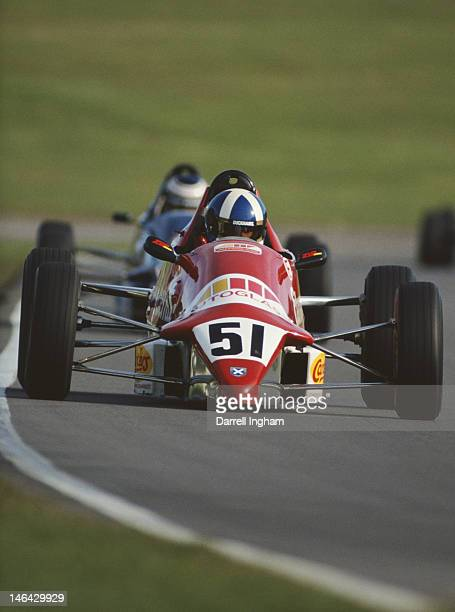 David Coulthard drives the Van Diemen RF89 to third place during the Formula Ford Festival on 27th October 1989 at the Brands Hatch circuit in...