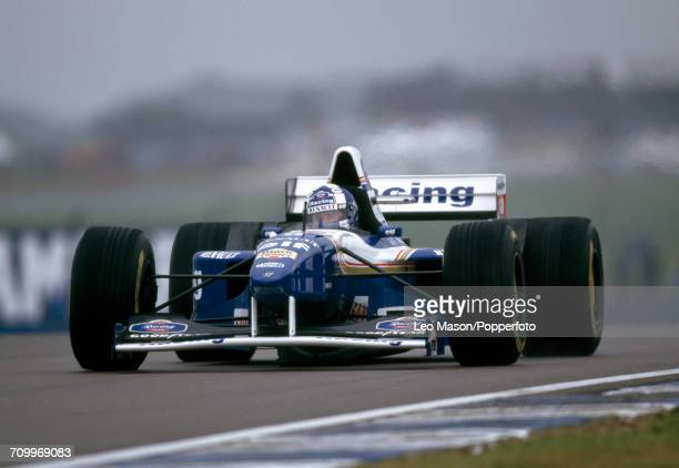 David Coulthard driving the Rothmans Williams Renault Williams FW17 Renault 3.0 V10 during the British Grand Prix on 16th July 1995 at the...