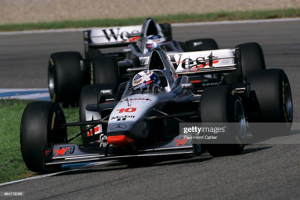 David Coulthard, Mika Häkkinen, Grand Prix Of Europe : News Photo
