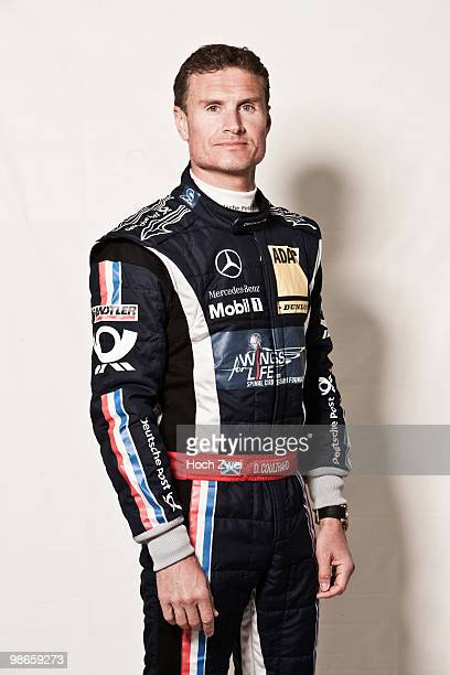David Coulthard of Great Britain and Mücke Motorsport AMG Mercedes is seen during qualifying for the DTM 2010 German Touring Car Championship race on...
