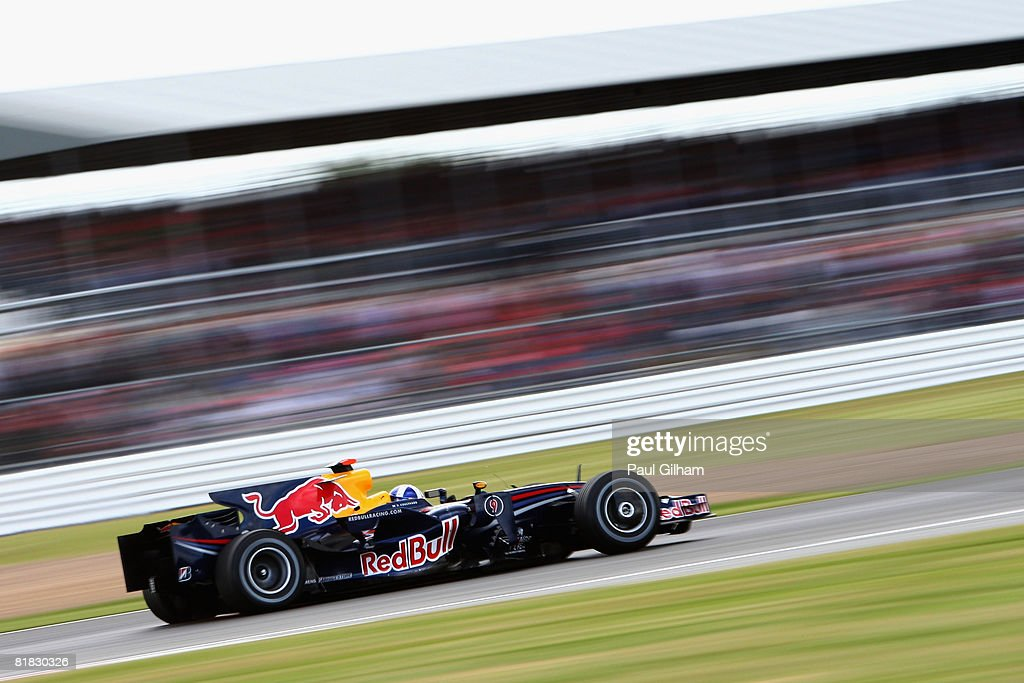 David Coulthard of Great Britain and Red Bull Racing drives during qualifying for the British Formula One Grand Prix at Silverstone on July 5, 2008 in Northampton, England.