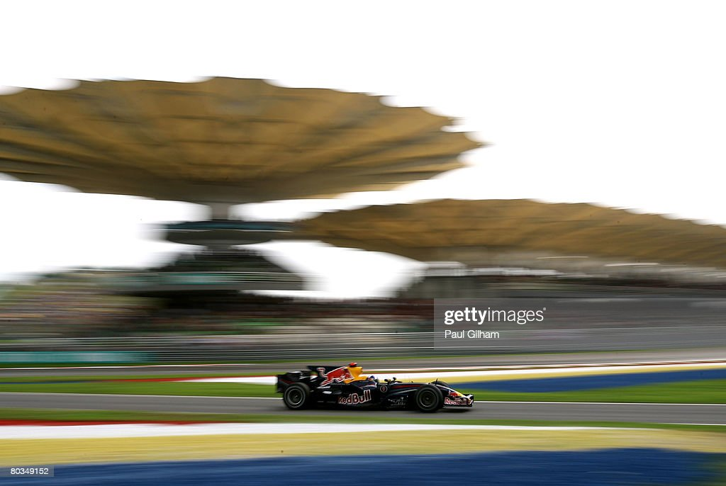David Coulthard of Great Britain and Red Bull Racing in action during the Malaysian Formula One Grand Prix at the Sepang Circuit on March 23, 2008 in Kuala Lumpur, Malaysia.