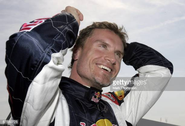 David Coulthard of Great Britain and Red Bull Racing smiles prior to the European F1 Grand Prix at the Nurburgring on May 7 in Nurburg, Germany.