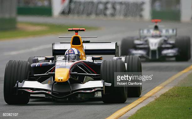 David Coulthard of Great Britain and the Red Bull Formula OneTeam in action during the Australian Formula One Grand Prix at Albert Park on March 6...