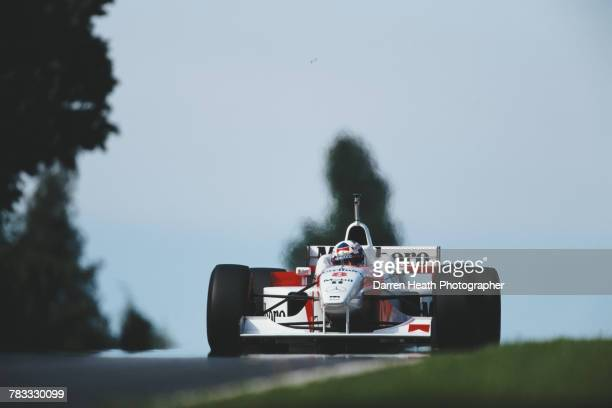 David Coulthard of Great Britain drives the Marlboro McLaren Mercedes McLaren MP4/11 Mercedes V10 during the Formula One San Marino Grand Prix on 5...