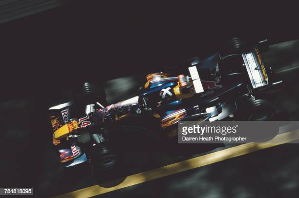 David Coulthard of Great Britain drives the Star Wars Red Bull Racing Red Bull RB1 Cosworth V10 during the Formula One Monaco Grand Prix on 22 May...