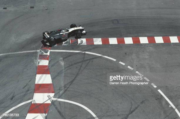 David Coulthard of Great Britain drives the West McLaren Mercedes McLaren MP4/14 Mercedes V10 during the Formula One Monaco Grand Prix on 16 May 1999...