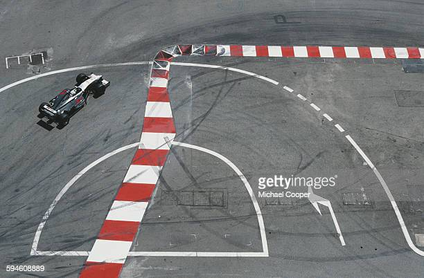 David Coulthard of Great Britain driving the West McLaren Mercedes McLaren MP4-16 Mercedes V10 during the Grand Prix of Monaco on 16 May 1999 on the...