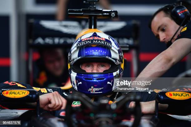 David Coulthard of Scotland and Red Bull Racing prepares to drive during the Red Bull Racing Vietnam show run on May 4, 2018 in Ho Chi Minh City,...