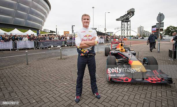 David Coulthard of Scotland takes the Red Bull Racing RB7 out for a demonstration run at The Ignition Festival of Motoring at SECC on August 6, 2016...