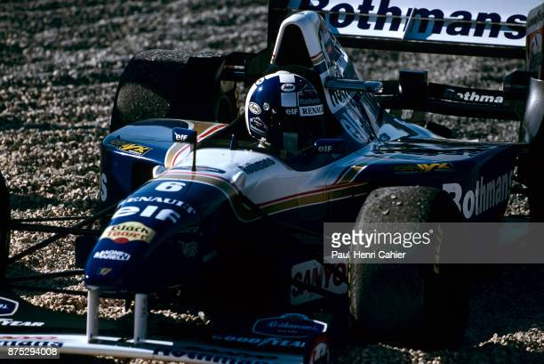 David Coulthard, Williams-Renault FW17B, Grand Prix of Portugal, Autodromo do Estoril, 24 September 1995. David Coulthard in the gravel trap during...