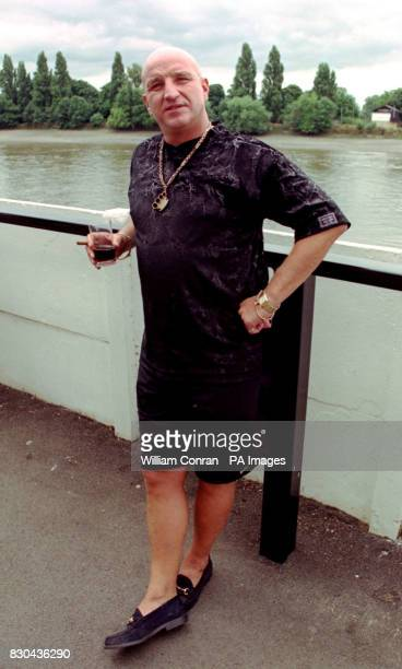 David Courtney friend of the Kray twins attending the inaugral Women's Charity Shield football match between Arsenal and Croydon in support of...