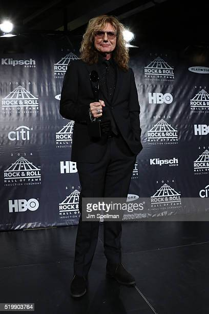 David Coverdale of Deep Purple speaks onstage at the 31st Annual Rock And Roll Hall Of Fame Induction Ceremony at Barclays Center of Brooklyn on...
