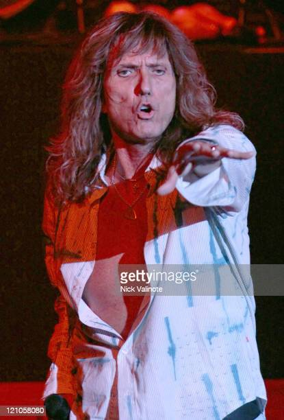 David Coverdale of Whitesnake during Whitesnake in Concert at the House of Blues in Atlantic City July 30 2005 at House of Blues at the Showboat...