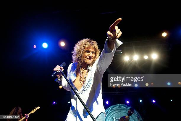 David Coverdale of Whitesnake performs on stage at HMV Forum on December 5 2011 in London United Kingdom