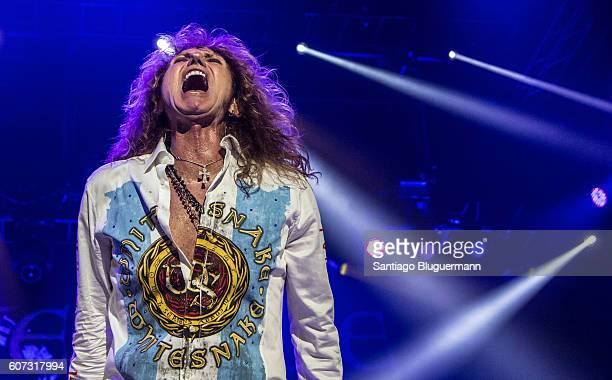 David Coverdale performs during Whitesnake The Greatest Hits Tour 2016 at Estadio Malvinas Argentinas on September 16 2016 in Buenos Aires Argentina