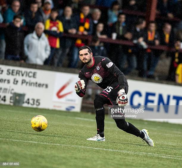 David Crawford of Partick Thistle at Ochilview Park on July 26 2016 in Falkirk Scotland