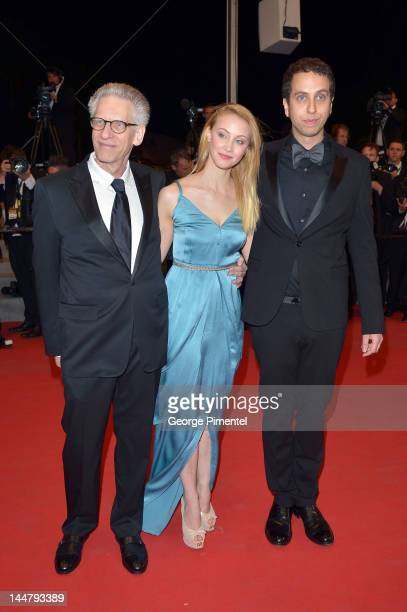 """David Cronenberg, actress Sarah Gadon and director Brandon Cronenberg walk the carpet for """"Antiviral"""" as they attend the """"The Sapphires"""" Premiere..."""