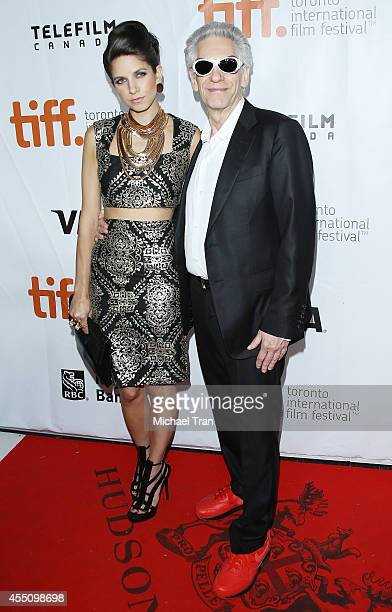 David Cronenberg and daughter arrive at the premiere of Maps To The Stars held during the 2014 Toronto International Film Festival - Day 6 held on...